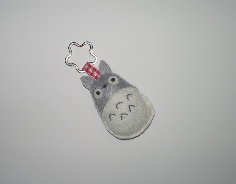 Made to Order Totoro Inspired Felt Plush Keychain