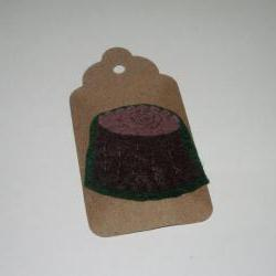 Tree Stump Felt Brooch
